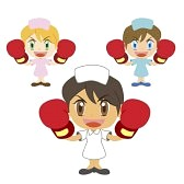 17362207-a-cute-nurse-raise-her-boxing-gloves-three-colors