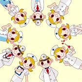 9829682-cartoon-doctor-and-nurse-card